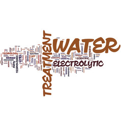 Electrolytic water treatment text background word vector