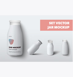 Empty plastic jar template for lotion gel vector