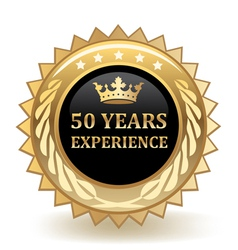 Fifty Years Experience Badge vector image
