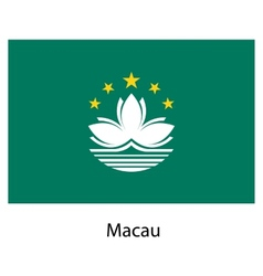 Flag of the country macau vector