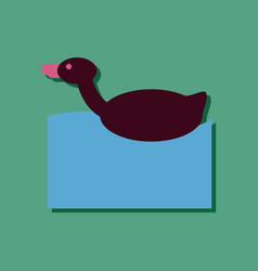 flat icon design kids duck automatic in sticker vector image