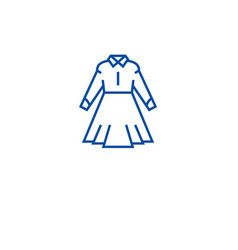 formal dress line icon concept formal dress flat vector image