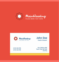 gear logo design with business card template vector image