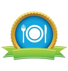 Gold dinner logo vector image