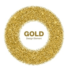 Golden circle frame jewelry gold emblem vector