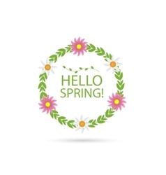 Hello spring vector