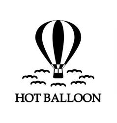 hot balloon icon vector image