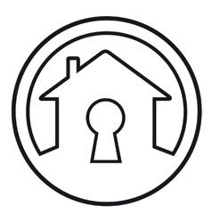 house lock concept symbol vector image