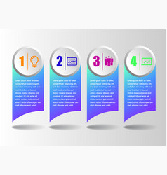 infographics modern business concept template vector image