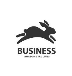 jumping rabbit vector image