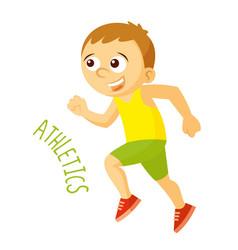 Kinds of sports athlete athletics run vector