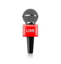 live tv microphone isolated vector image