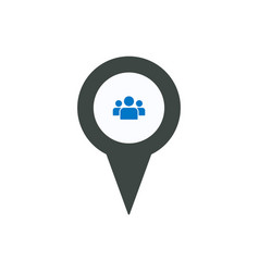 location man person pin place point user icon vector image