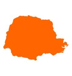 Map of Parana vector image