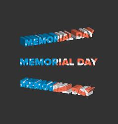 Memorial day sign vector