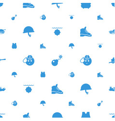 Military icons pattern seamless white background vector