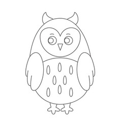 owl for coloring book vector image