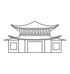 pagoda icon outline style vector image