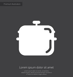 pan premium icon white on dark background vector image