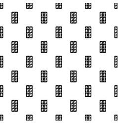 pill box pattern seamless vector image