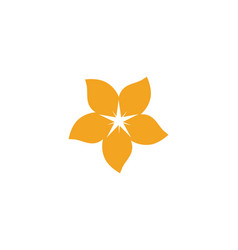 Plumeria flower icon vector