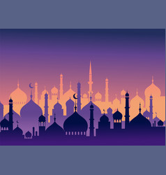 ramadan kareem greeting card and banner islamic vector image