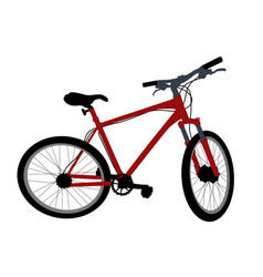 red bicycle on white background vector image