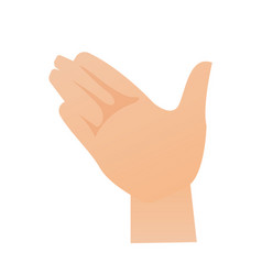 Right palm hand cartoon vector
