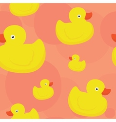 Rubber duck pink pattern vector