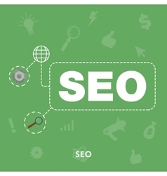 Search engine optimization concept of SEO vector