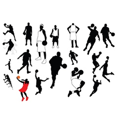 Silhouettes of sports players vector