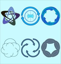 Spinning logos vector image