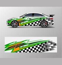 Sport car racing wrap design design abstract vector