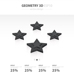 Star Icons Infographic template vector image