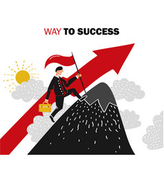 Success business composition vector