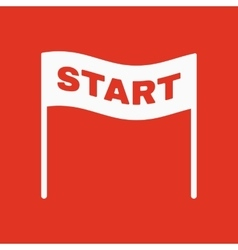 The start icon Start symbol Flat vector image vector image