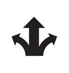 three arrows - black icon on white background vector image