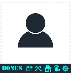 User icon flat vector image