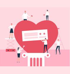 volunteers - flat design style vector image