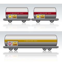 Wagon train danger liquid vector image