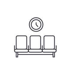 waiting room line icon concept waiting room vector image