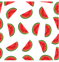 watermelon background with black seeds seamless vector image