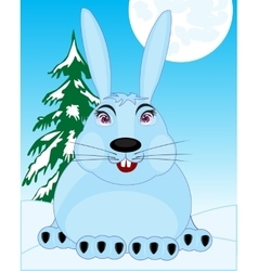 Wildlife hare in snow vector