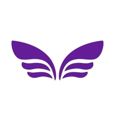 Wings for emblem design icon simple style vector image