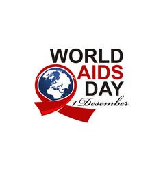 World aids day 1 december vector