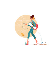 young attraction businesswoman going to work vector image