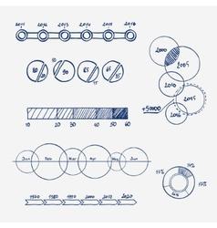 analytics business finance statistics infographics vector image