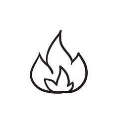 fire sketch ico vector image vector image
