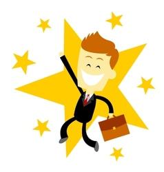 Happy Success Business Man vector image vector image