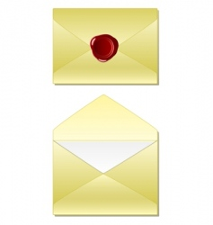 old envelope with wax seal vector image vector image